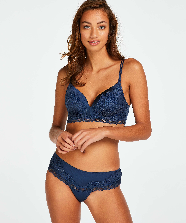 Yvonne padded non-underwired bra, Blue, main