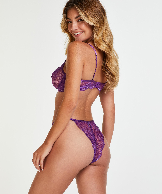 Isabelle non-padded underwired bra, Purple, main
