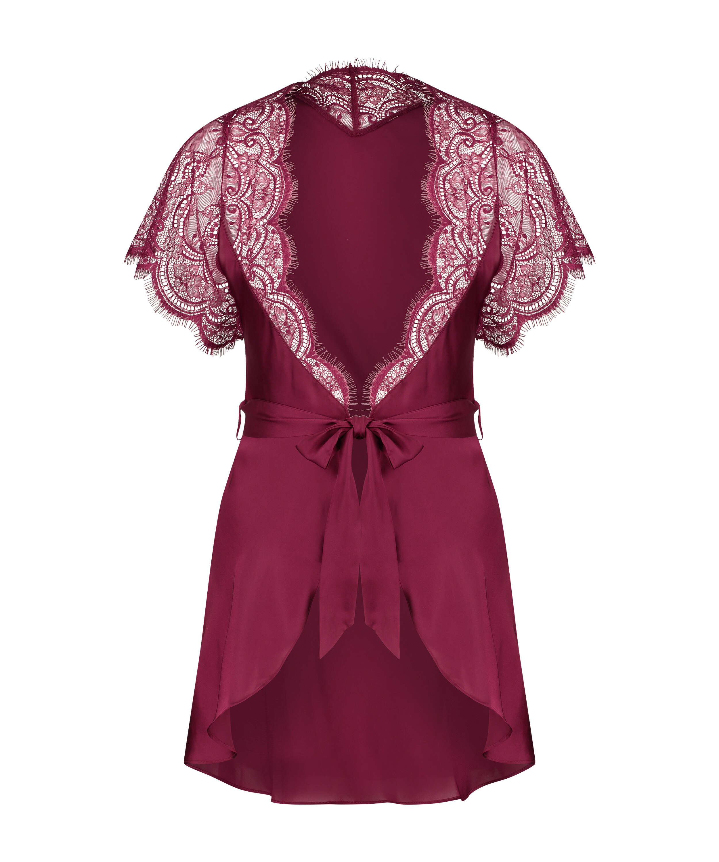 Cap Sleeve Kimono, Red, main