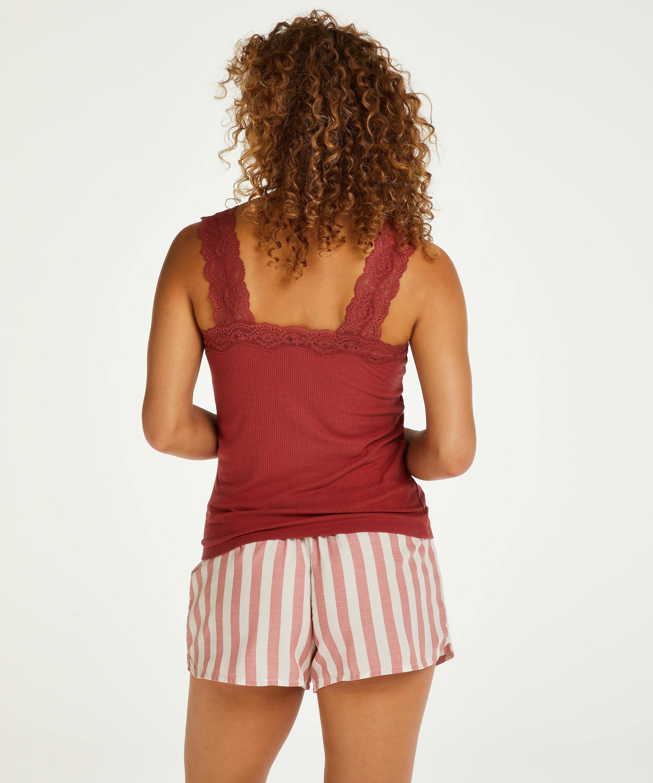 Chambray Stripe Shorts, Pink, main