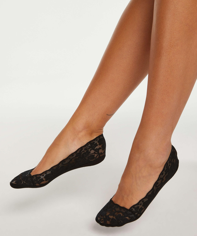 2 pairs Lasercut Footsies, Black, main