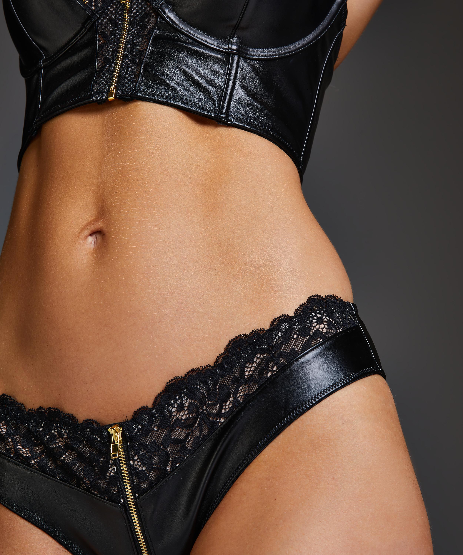 Talia Brazilian with open crotch, Black, main