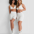 Short high waist Zia HKM x NA-KD, White