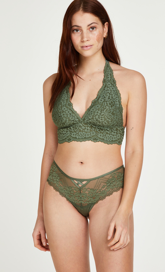 Jella thong boxers, Green