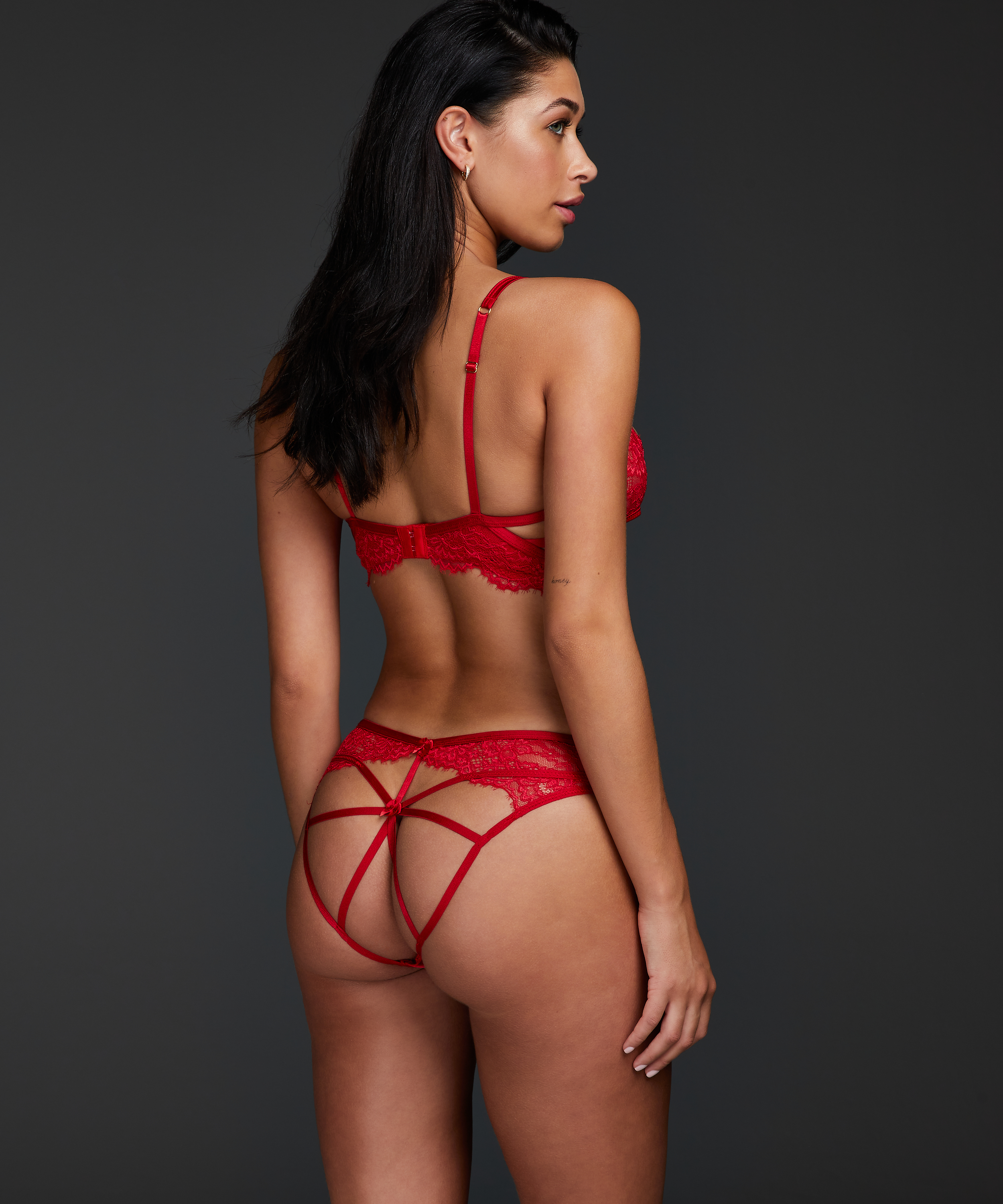 Eve Brazilian with open crotch, Red, main