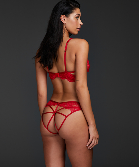Eve Brazilian with open crotch, Red