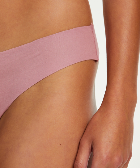 Invisible cotton thong, Purple