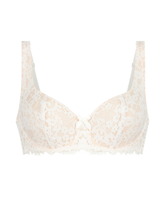 Leyla non-padded underwired bra, White