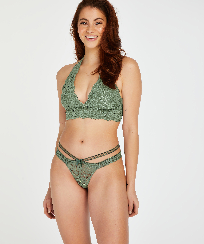 Martha Extra Low Rise Thong, Green, main