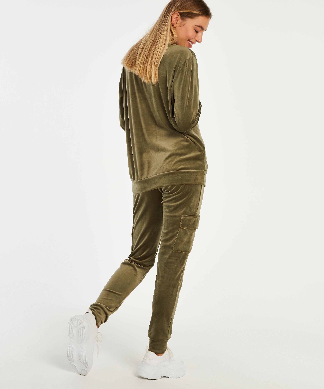 Velvet maternity top, Green, main
