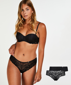 2-pack of Angie Brazilian knickers, Black