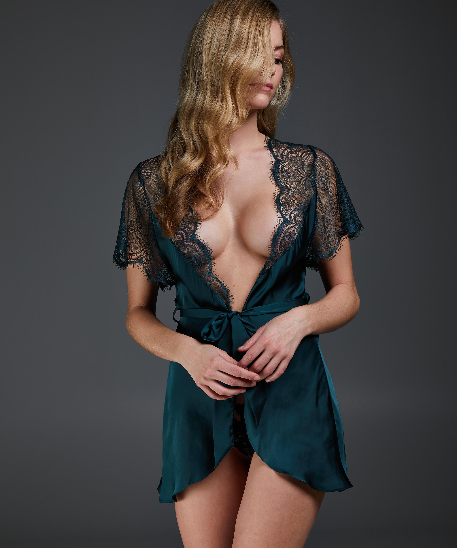 Cap Sleeve Kimono, Green, main