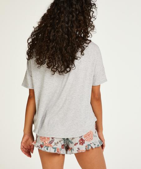 Short Pyjama Set, Grey