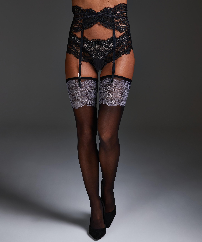 Delicate Noir Stockings, Black, main