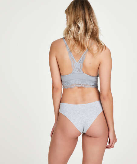 Invisible cotton knickers, Grey