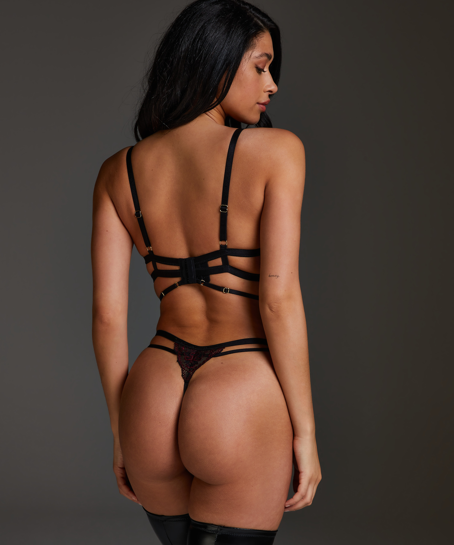 Piper non-padded underwired bra, Black, main