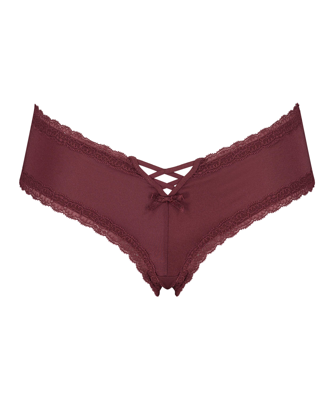 Vixen V-shaped brazilian, Red, main