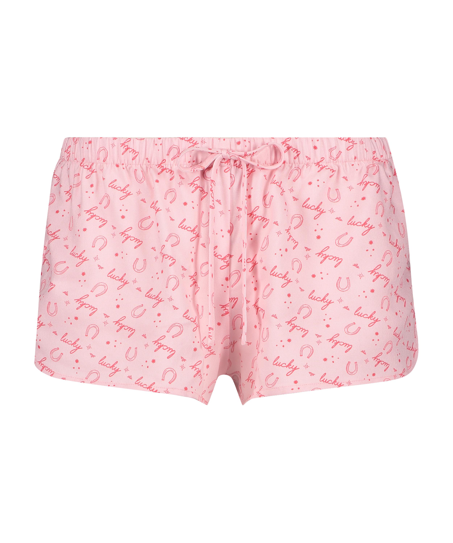 Lucky Short Pyjama Pants, Purple, main