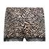 Zebra velvet shorts, Black