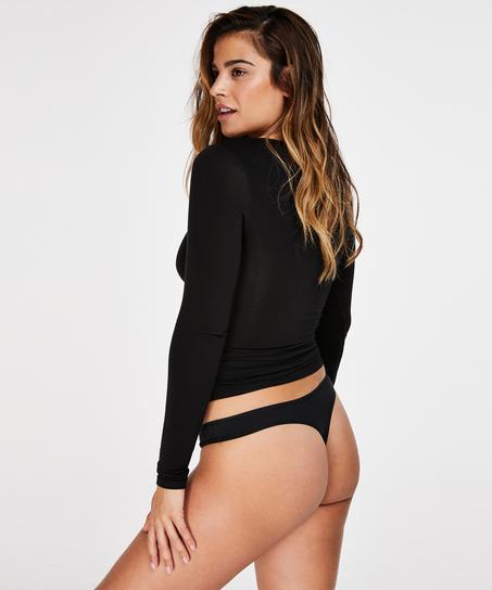 2 Cotton Thongs Kim, Black