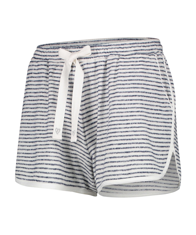 Brushed Stripe Short Pyjama Pants, Grey, main