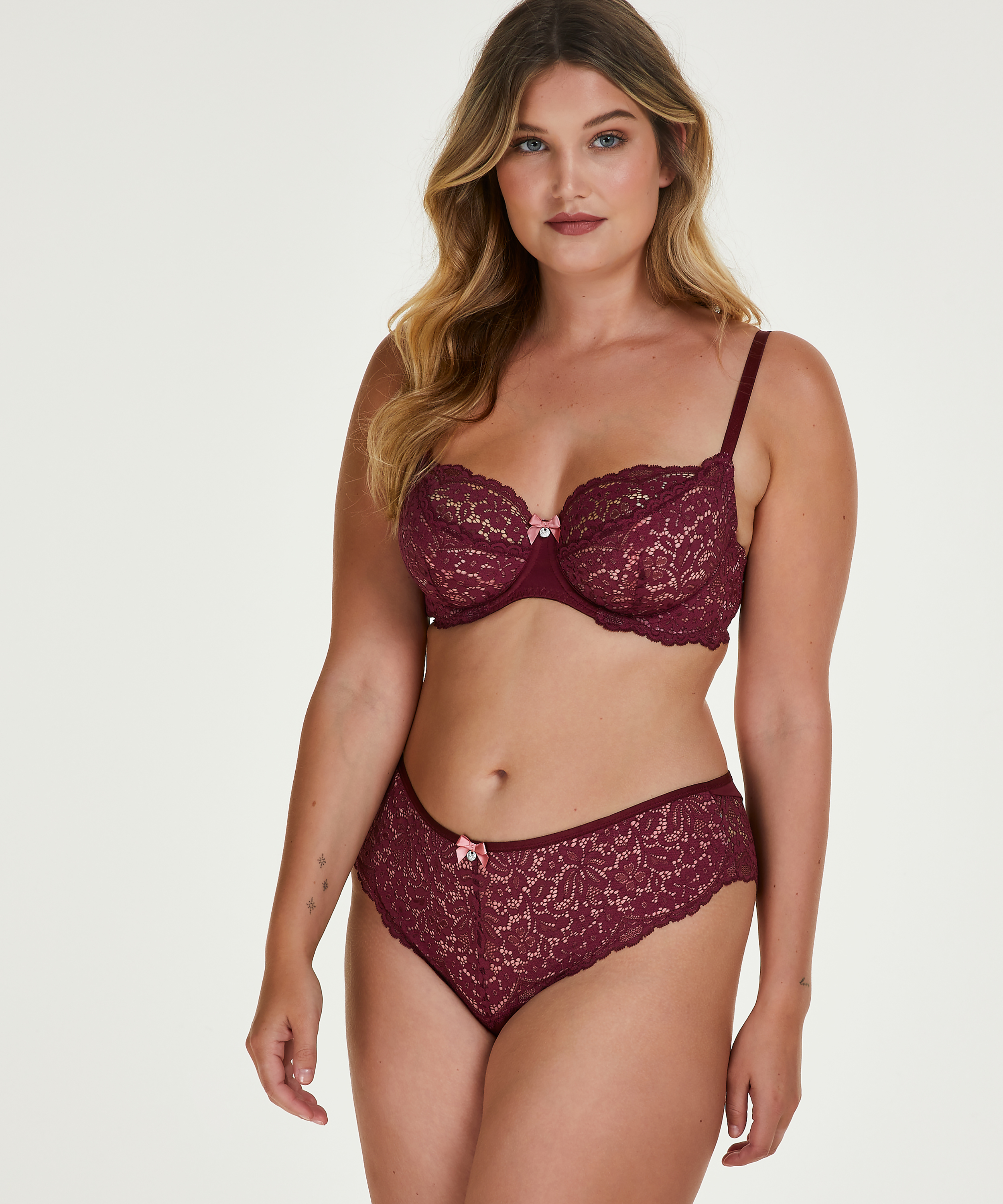 Rose Non-Padded Underwired Bra, Red, main