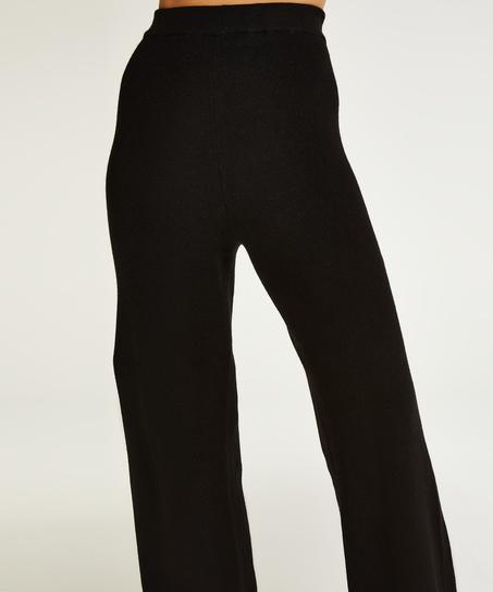 Premium Long Pants Knitted, Black
