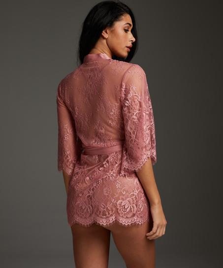 Isabelle Lace Kimono, Pink