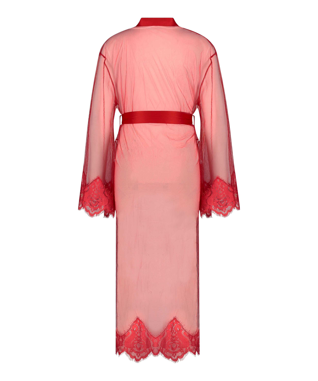 Long Cravache Kimono, Red, main