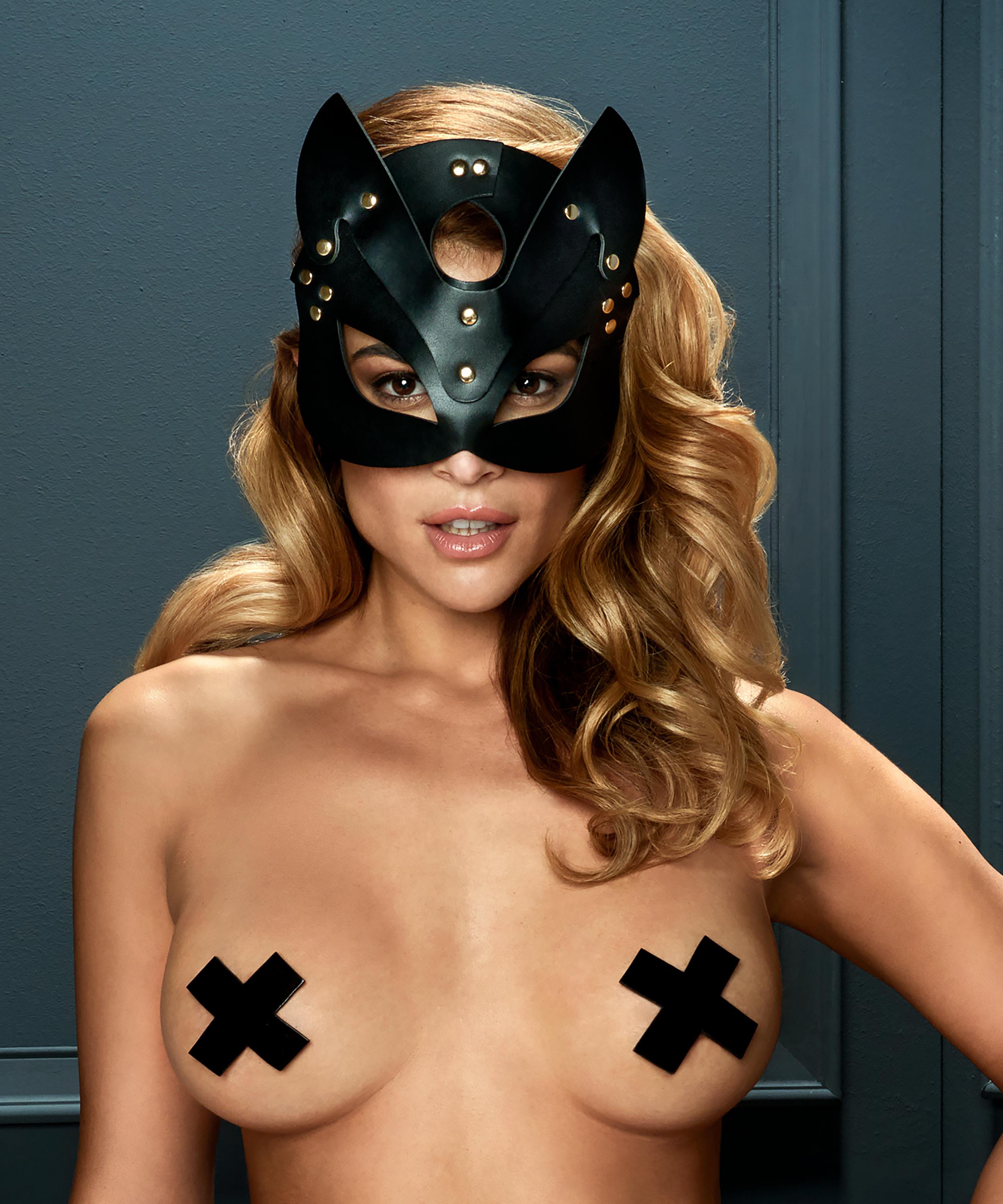Private Kitten Mask, Black, main