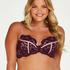 Millie Padded Underwired Bra, Purple