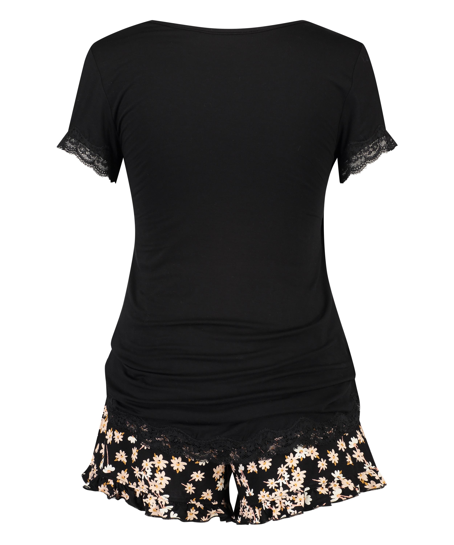 Daisy Maternity pyjama set, Black, main