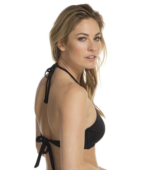 Halter bikini top Tribal, Black
