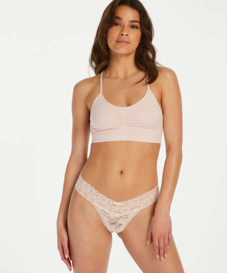 Extra Low V-Thong, Pink