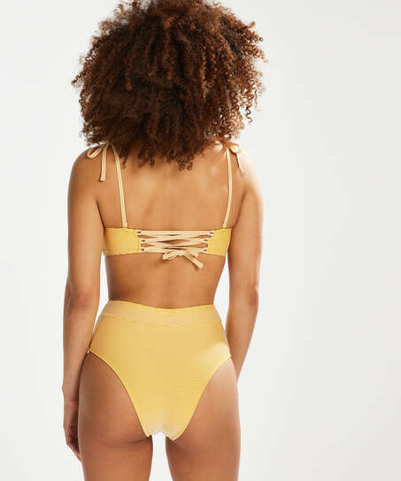 Carmel Brazilian high bikini bottoms, Yellow