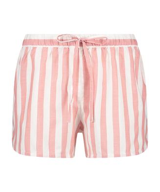Chambray Stripe Shorts, Pink