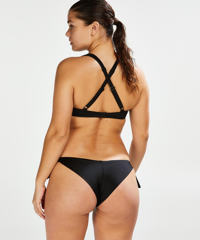 Sunset Dream Brazilian bikini bottoms, Black, main