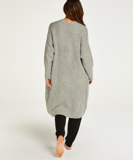 Premium Fluffy Long Vest, Grey
