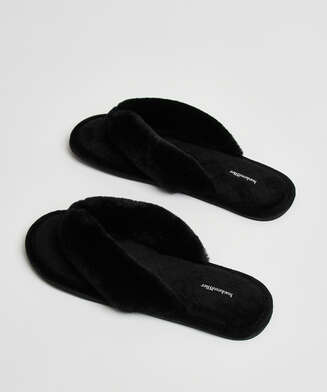 Velours slippers, Black