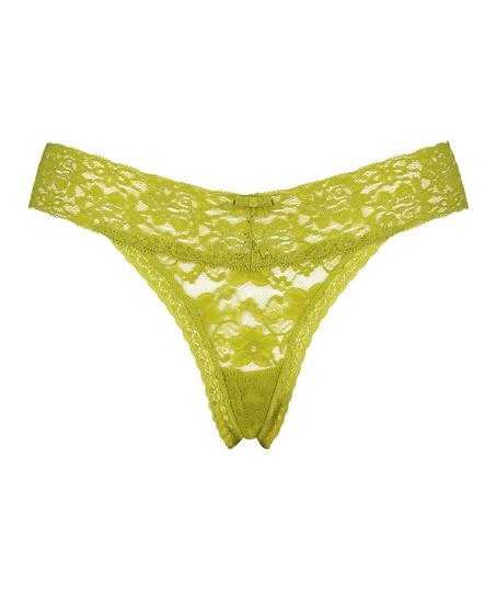 Extra Low V-Thong, Green