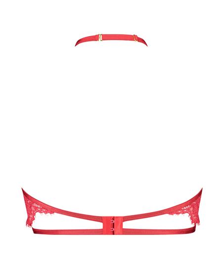 Eve Non-Padded Underwired Bra halter neck, Red