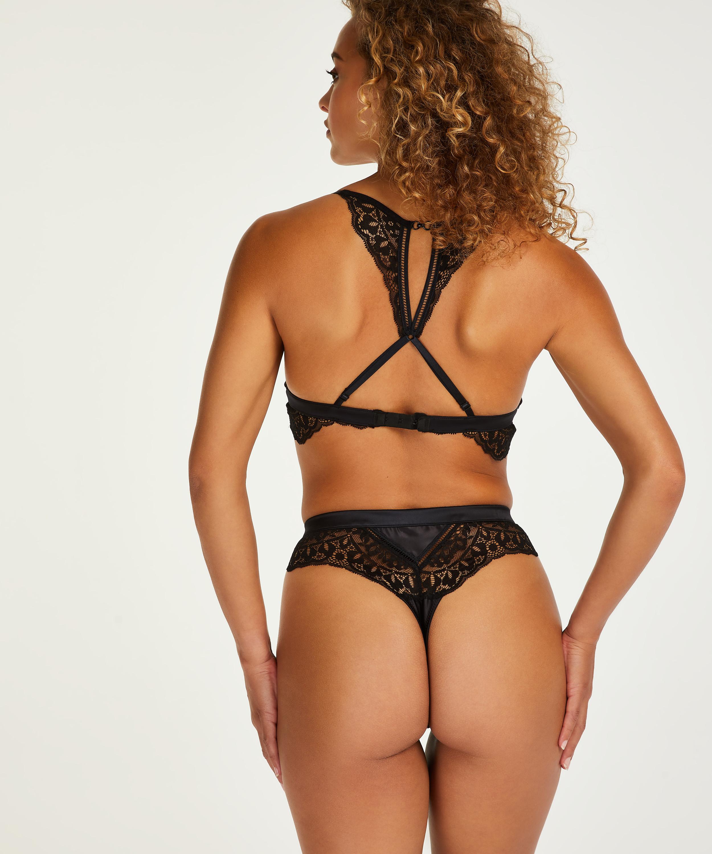 Niany High Waisted Thong, Black, main