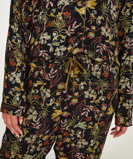 Woven pyjama bottoms, Black