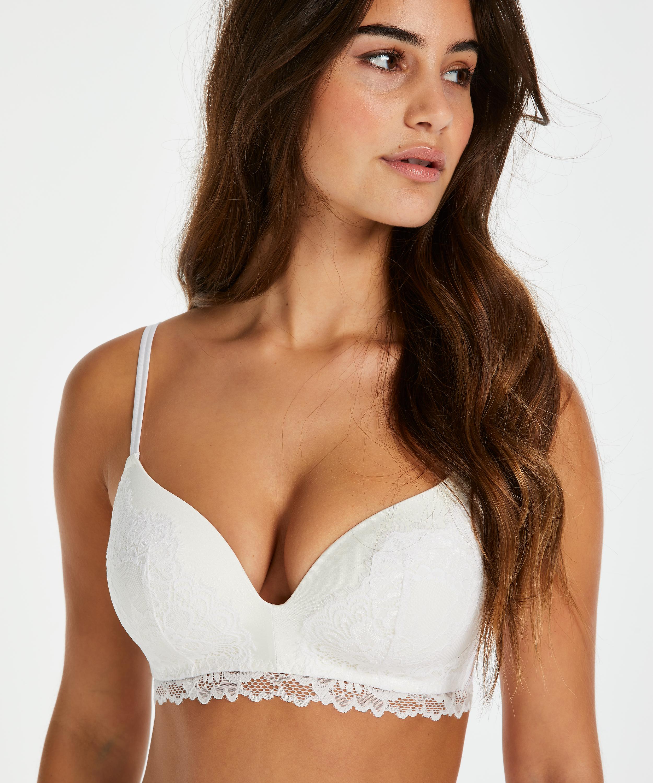 Yvonne padded non-underwired bra, White, main