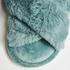 Velour slippers, Green