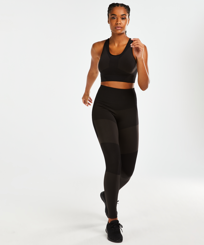 HKMX Sports bra The Motion Level 2, Black, main