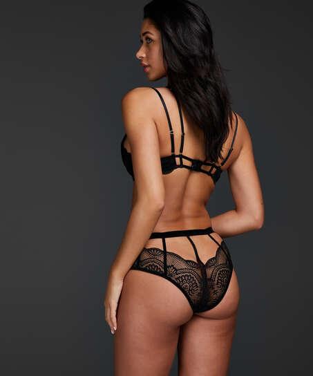 Blondie open crotch Brazilian, Black