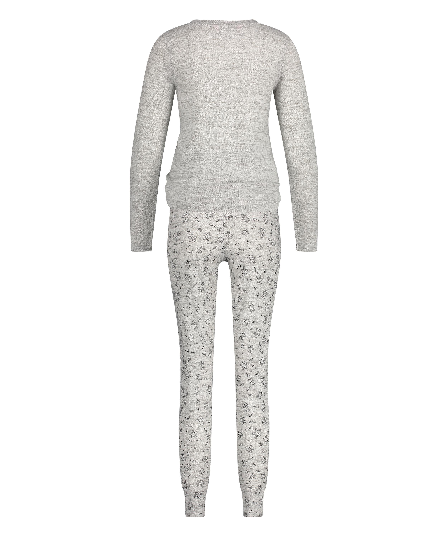 Long jersey pyjama set Gift Set, Grey, main