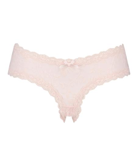 V-shaped Brazilian mesh, Pink