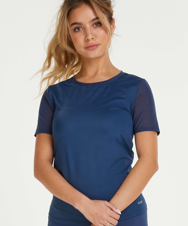 HKMX Open Back Sports Shirt, Blue, main